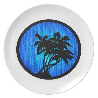 PALMS BY MOONLIGHT PLATE