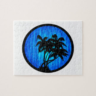 PALMS BY MOONLIGHT JIGSAW PUZZLES