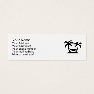 Palms island hammock mini business card