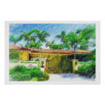 Palms & Landscape  - Miami Beach, Fl collection Posters