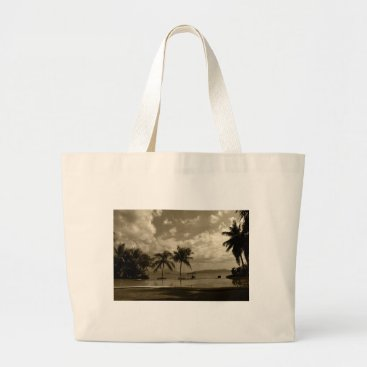 Beach Themed Palms Large Tote Bag