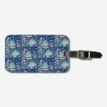 Professional Business Palms Luggage tag with business card slot