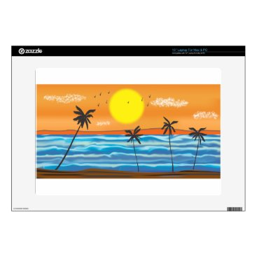 """Beach Themed Palms, natural landscape decal for 15"""" laptop"""