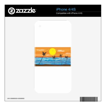 Beach Themed Palms, natural landscape iPhone 4 skins