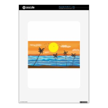 Beach Themed Palms, natural landscape skins for iPad