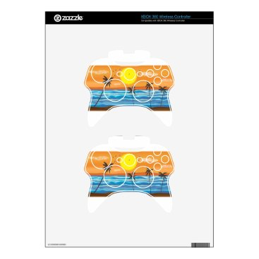 Beach Themed Palms, natural landscape xbox 360 controller skin