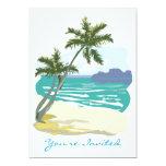 "Palms, Ocean & Mountains 5"" X 7"" Invitation Card"