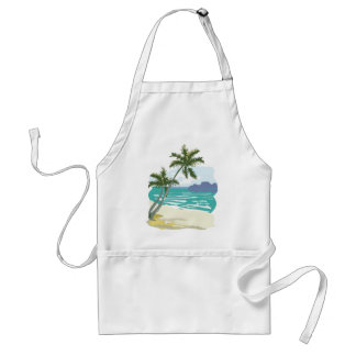 Palms, Ocean & Mountains Adult Apron