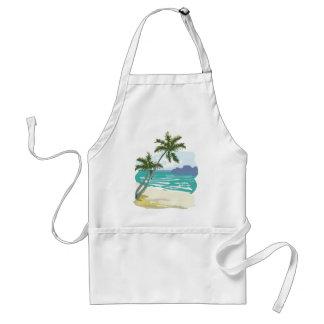 Palms, Ocean & Mountains Adult Apron