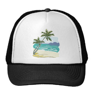 Palms, Ocean & Mountains Trucker Hat