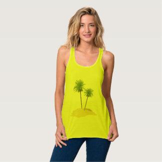 Palms on the Island top Flowy Racerback Tank Top
