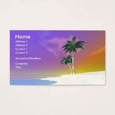 Professional Business Palms on White - Business Business Card