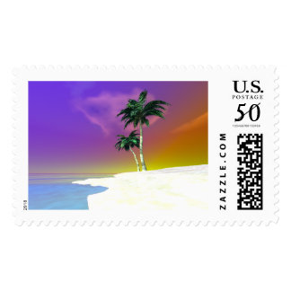 Palms on White Postage