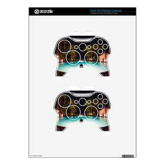 Palms, pool, woman and beer... xbox 360 controller decal
