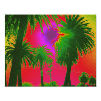 """""""Palms"""" Poster - Size Small (17"""" x 13"""")"""