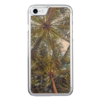 Palms printed on Wood Carved iPhone 7 Case