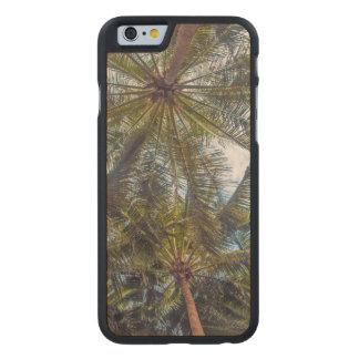 Palms printed on Wood Carved Maple iPhone 6 Slim Case