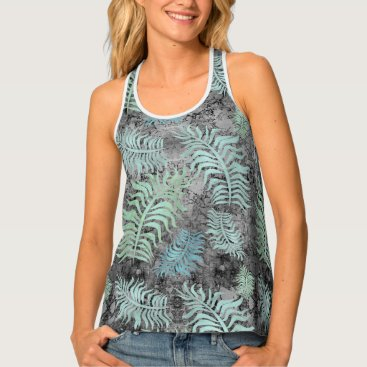 Beach Themed Palms R6 Women's All-Over Print Racerback Tank Top