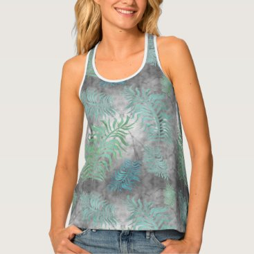 Beach Themed Palms R7 Women's All-Over Print Racerback Tank Top
