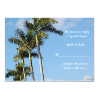 palms rsvp card
