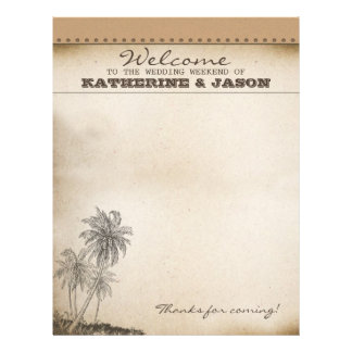 palms wedding welcome letterhead