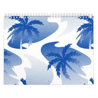 Palms with abstract water calendar