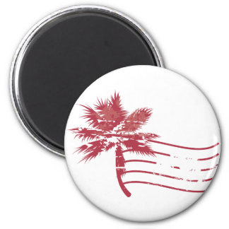 Palmtree rubber stamp magnet