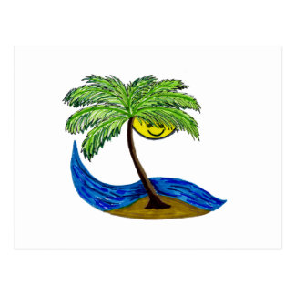 Palmtree tropical postales