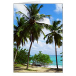 Palmtrees on Tropical Seascape Greeting Card