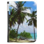 Palmtrees on Tropical Seascape Kindle Case