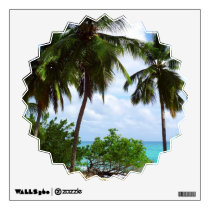 Palmtrees on Tropical Seascape wall decals