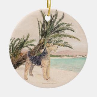 Palmy Beach Ceramic Ornament