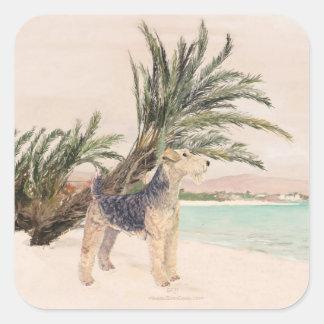 Palmy Beach Square Sticker