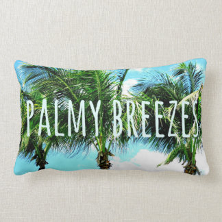 Palmy Breezes Palm Trees Pillow