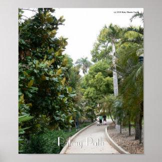 Palmy Path Poster