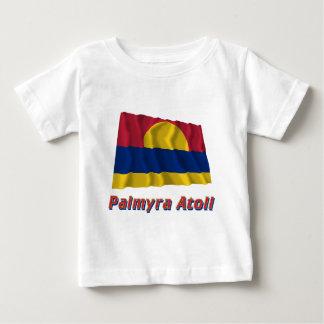 Palmyra Atoll Waving Flag with Name Baby T-Shirt