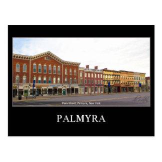 Palmyra Nueva York de la calle principal Postal