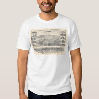 Palo Alto, CA. Panoramic Map 1888 (1658A) Tee Shirt