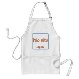 Palo Alto California BlueBox Adult Apron