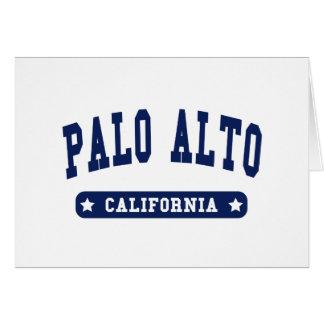 Palo Alto California College Style tee shirts Card