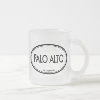 Palo Alto, California Frosted Glass Coffee Mug