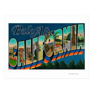 Palo Alto, California - Large Letter Scenes Postcard