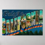 Palo Alto, California - Large Letter Scenes Print