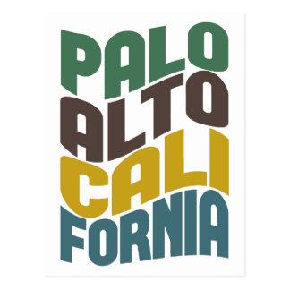 Palo Alto California Retro Wave Postcard