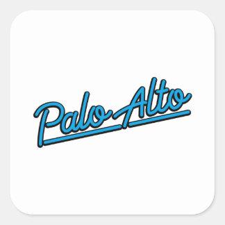 Palo Alto in cyan Square Sticker