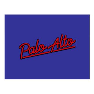 Palo Alto in red Postcard