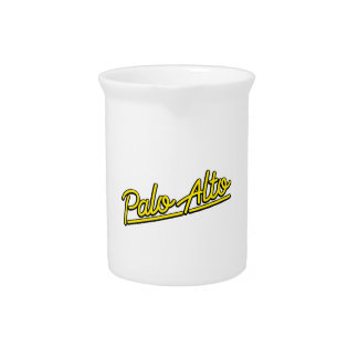 Palo Alto in yellow Beverage Pitcher