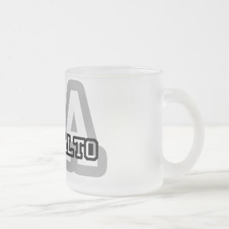 Palo Alto 10 Oz Frosted Glass Coffee Mug