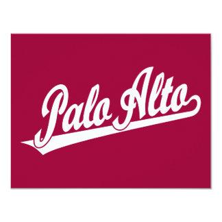 Palo Alto script logo in white Card