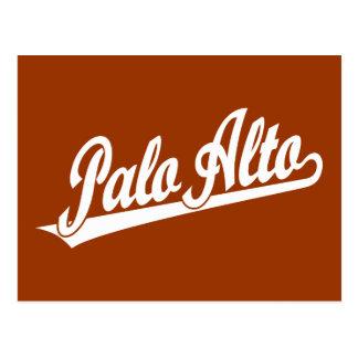 Palo Alto script logo in white Postcard